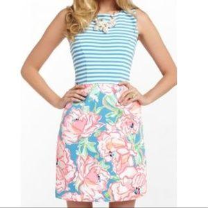 Lily Pulitzer Sleeveless Floral Stripes Dress